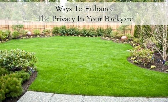 Methods For More Privacy In Your Backyard