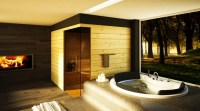 20 Beautiful Bathroom Designs With Fireplaces