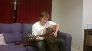 Very intrigued by the guitar!