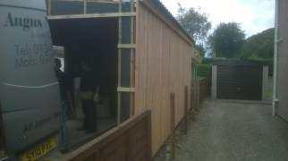 Day 3 - first cladding is on the far side, amazing progress!
