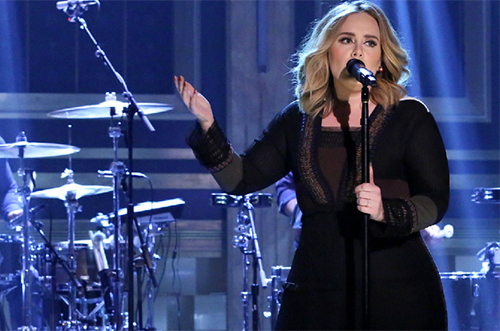 "ADELE PERFORMS ""WATER UNDER THE BRIDGE,"" PLAYS 'BOX OF LIES' ON 'THE TONIGHT SHOW'"