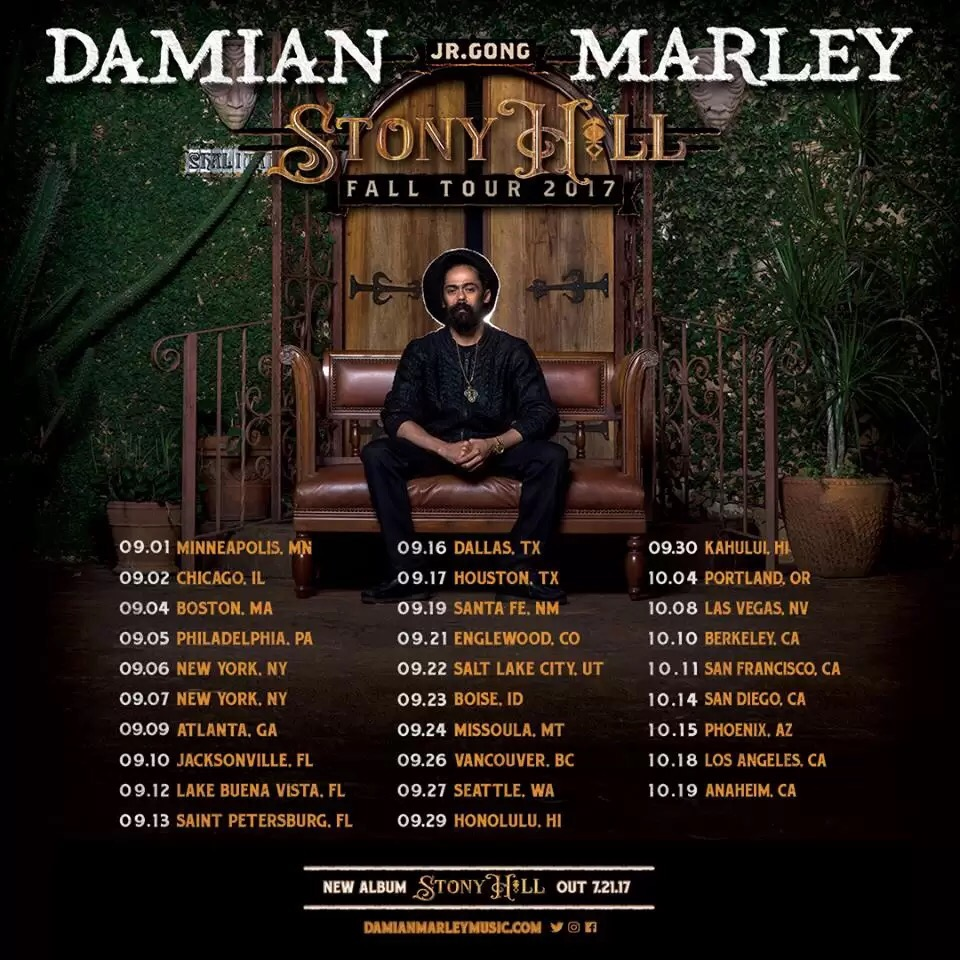 "Download Album: Damian ""Jr. Gong"" Marley – Stony Hill"