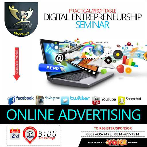 BADAGRY CORRIDOR GRADUATE-YOUTH CONFERENCE CAPACITY BUILDING SEASON 2.0: PRACTICAL/PROFITABLE DIGITAL ENTREPRENEURSHIP SEMINAR