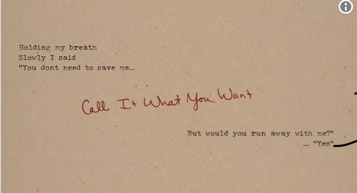 Taylor Swift – Call It What You Want