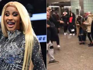 Cardi B's Hit Song Bodak Yello2 transforms New York subway into a small party (Video)
