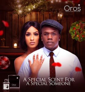Juliet Ibrahim and Iceberg Slim for Oros perfume