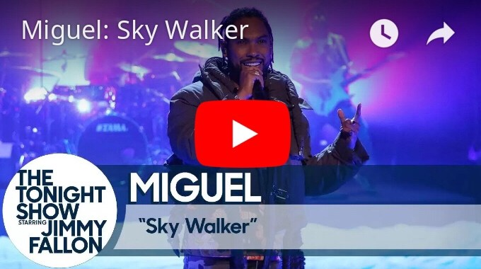 "Miguel Performs ""Sky Walker"" On 'The Tonight Show'"