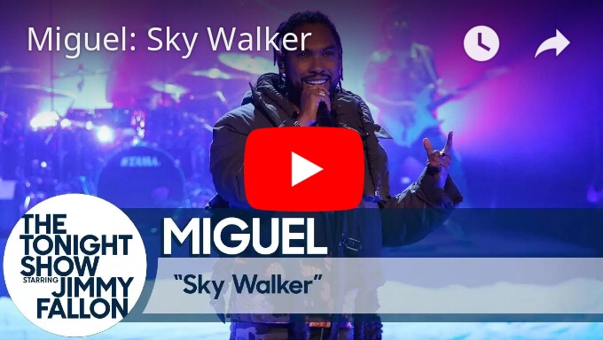 """Watch Miguel Performs """"Sky Walker"""" On 'The Tonight Show'"""