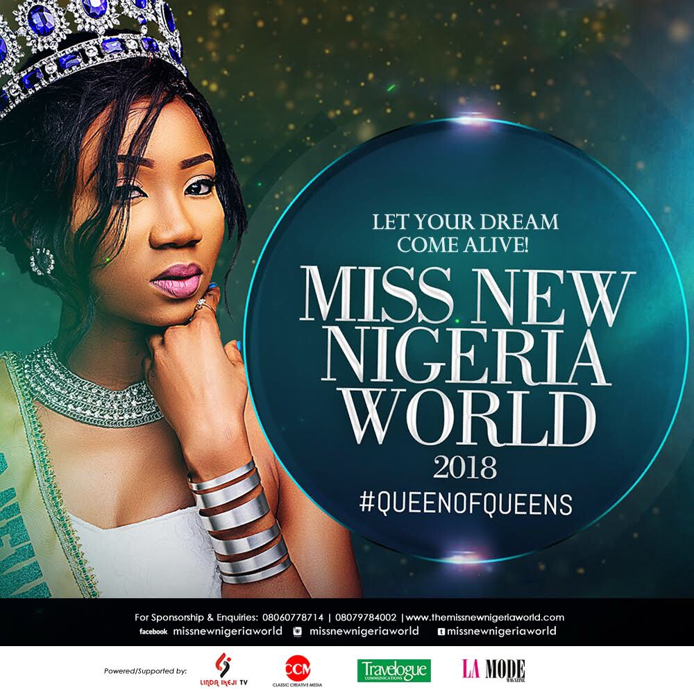 Miss New Nigeria World (MNNW) 2018 Pageant Launched