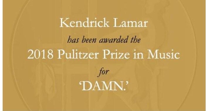 "Kendrick Lamar Wins Pulitzer Prize For ""DAMN."" ALBUM"