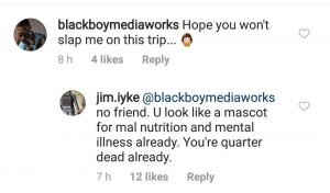 You are a mascot for mental illness' – Jim Iyke blasts fan