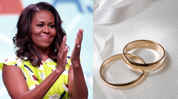 Michelle Obama officiates wedding