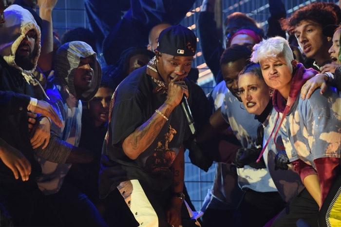 Watch Travis Scott perform at the Grammys