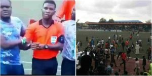 Video: Referee escapes death after Kano Pillars fans attack in Lagos