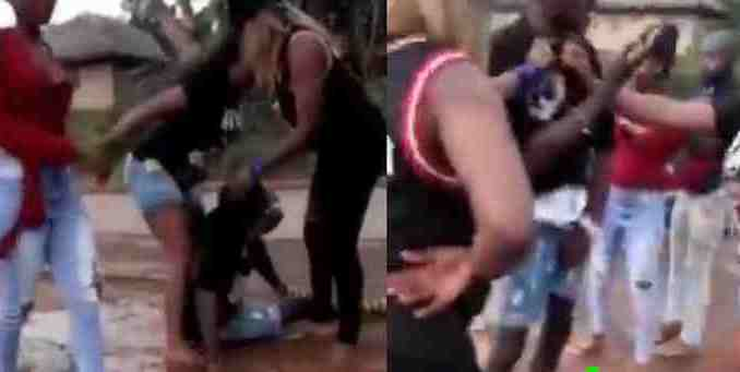 3 Ladies Beat Up Man Who Has Been Sleeping With All 3 Of Them (Video)