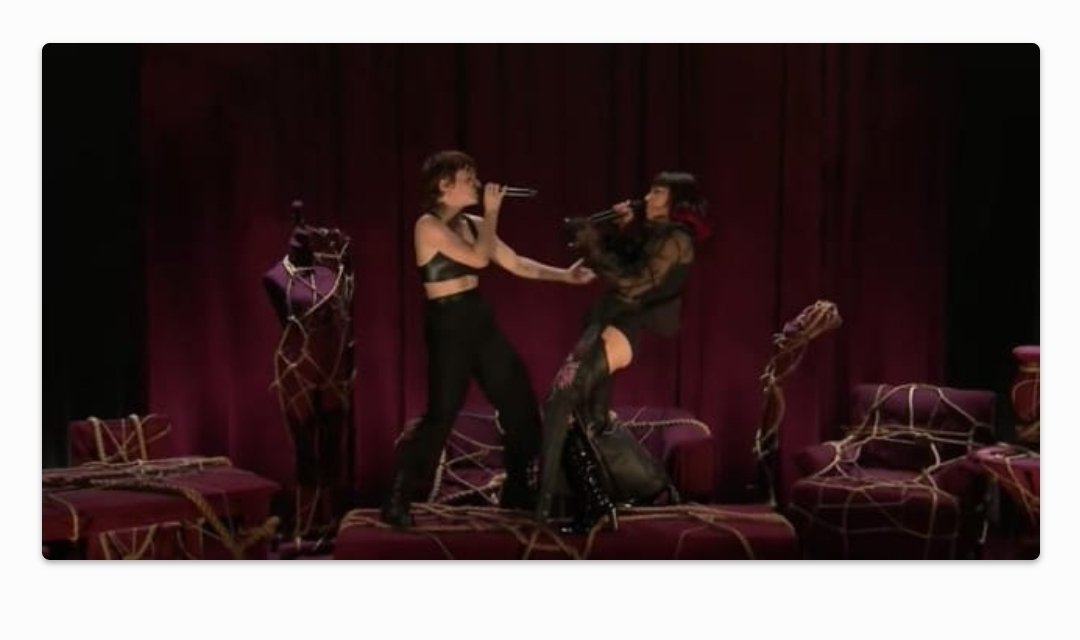 """Charli XCX and Christine and The Queens perform """"Gone"""" on Fallon"""