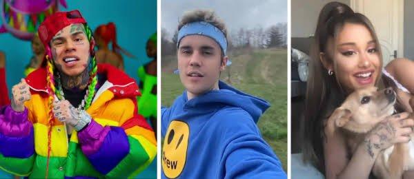 Justin Bieber replies 6ix9ine for suggesting he and Ariana Grande manipulate charts