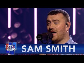 Sam Smith Performs 'Kids Again & 'Diamonds' on 'Colbert'