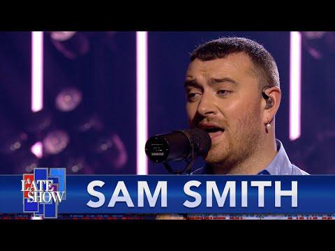 Sam Smith Performs 'Kids Again & 'Diamonds' on 'Colbert'