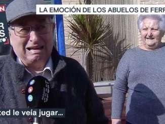 Ferran Torres Grandparents Fight Tears During Interview