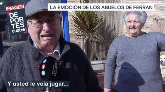 Ferran Torres Grandparents Fight Tears During Interview