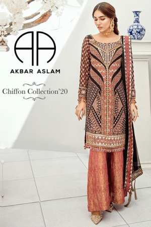 AKBAR ASLAM-Chiffon Collection-Formals-TRELLIS