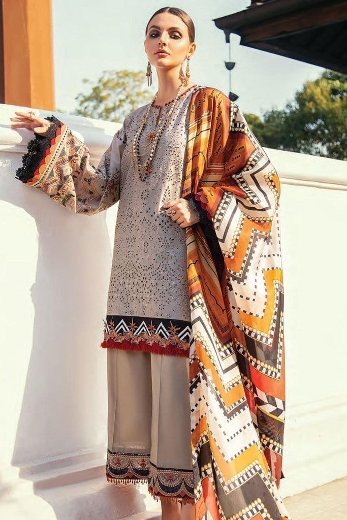 Baroque premium lawn eid collection 2020 bq20e 07 satin sand 1