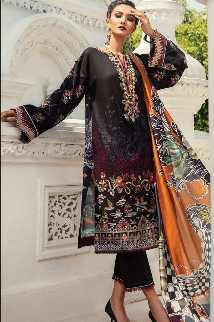 Baroque premium lawn eid collection 2020 bq20e 10 black treasure 1