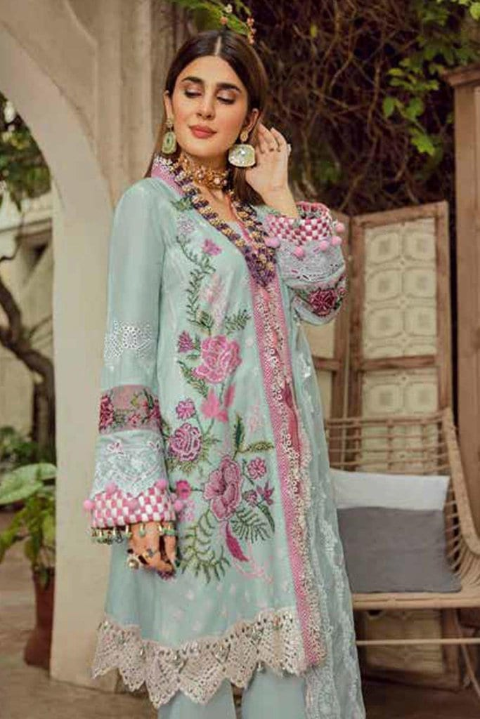 Maryam hussain festive lawn collection 2020 mrh20f d 02 french knot 1