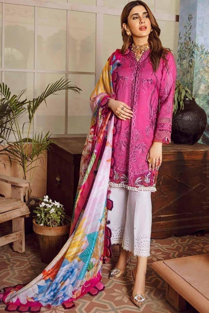 Maryam Hussain Embroidered |  D-10 FUSHIA | Festive Collection