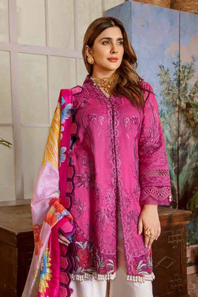 Maryam hussain festive lawn collection 2020 mrh20f d 10 fushia 2