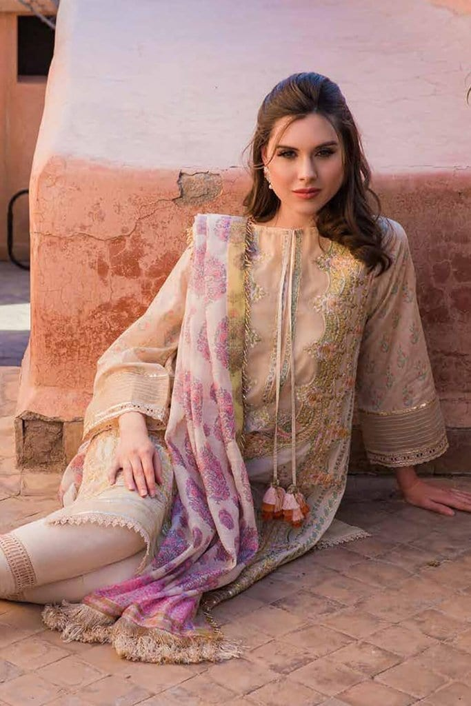 Sobia nazir luxury lawn 2020 collection l20sn 2 b biege 1