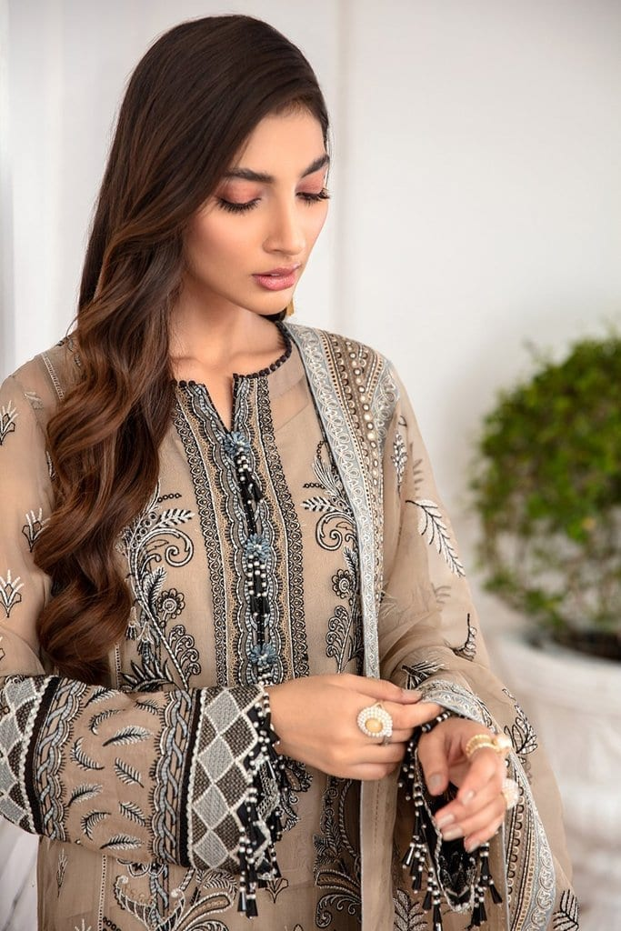 JAZMIN | Mahpare | Luxury Embroidered Stitched Collection | Nirush