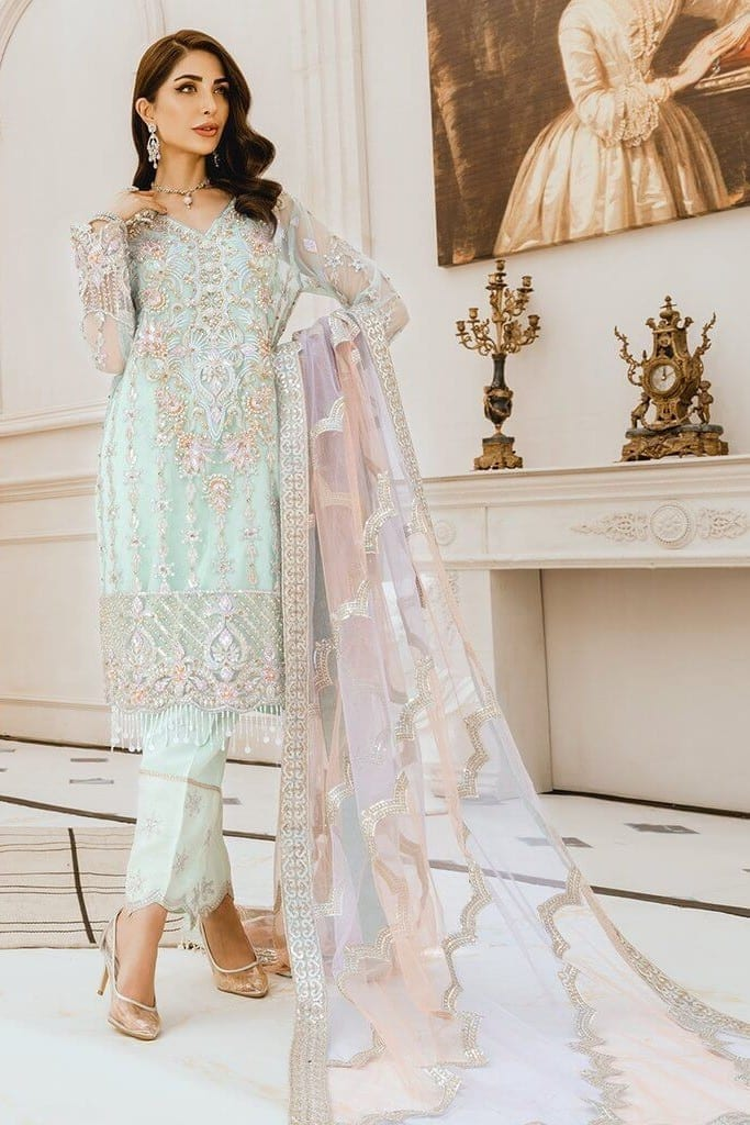 MARYAM N MARIA | FREESIA | Festive Collection | SKY ROMANCE | FG-03