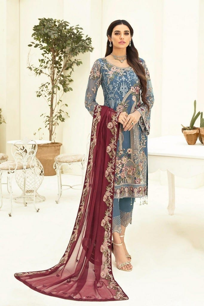 RAMSHA   CHERVAN EMBROIDERED Collection   A-311