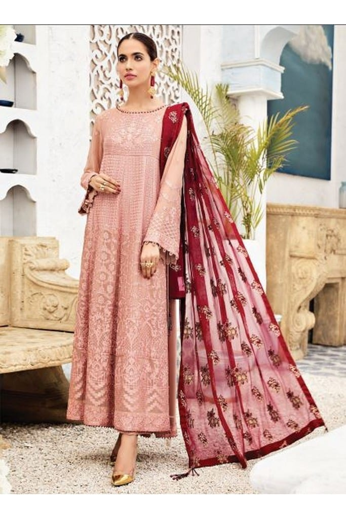 ALIZEH FASHION | LUXURY CHIFFON Collection | DUSTY ROSE-06
