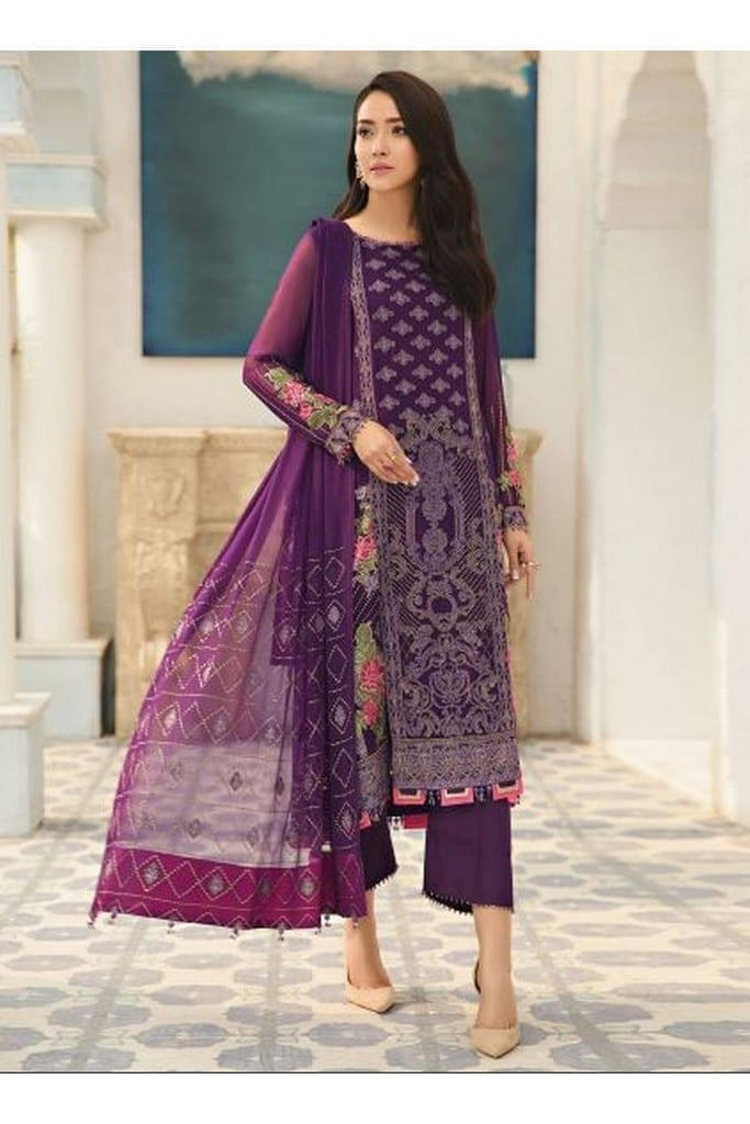 ALIZEH FASHION | LUXURY CHIFFON Collection | VIOLET-05