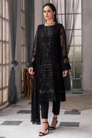 MOTIFZ | EMBROIDERED BEMBERG CHIFFON Collection | JADE-2649