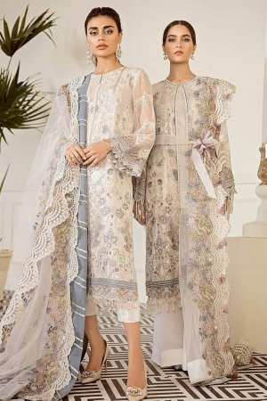 BAROQUE   EMBROIDERED CHIFFON Collection   PEWTER