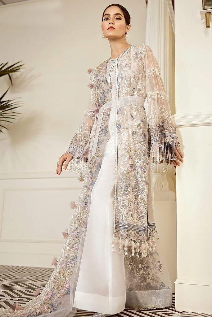 BAROQUE | EMBROIDERED CHIFFON Collection | PEWTER