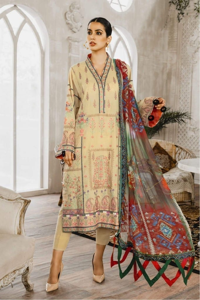 MARYUM N MARIA | Embroidered Lawn | Regim Eorrs (ML-08)