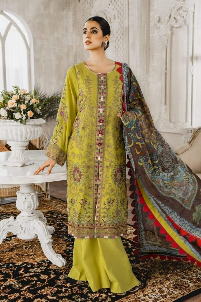 MARYUM N MARIA | Embroidered Lawn | Husterl Ugh (ML-09)