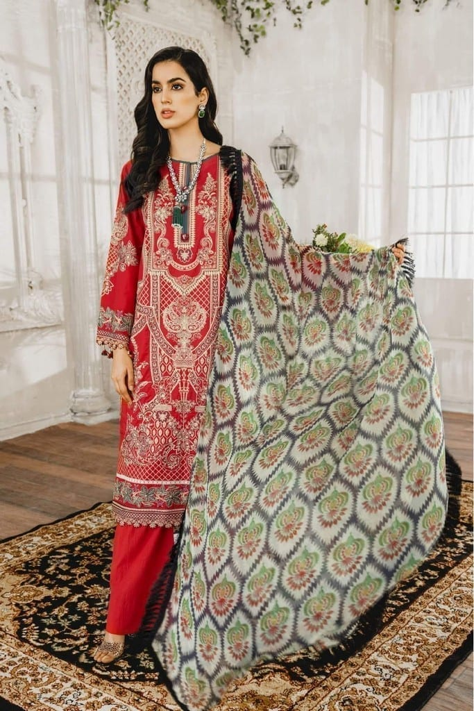 MARYUM N MARIA | Embroidered Lawn | Romantine (ML-10)