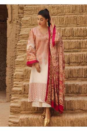 TENA DURRANI | Embroidered Lawn Suits | Persimmon