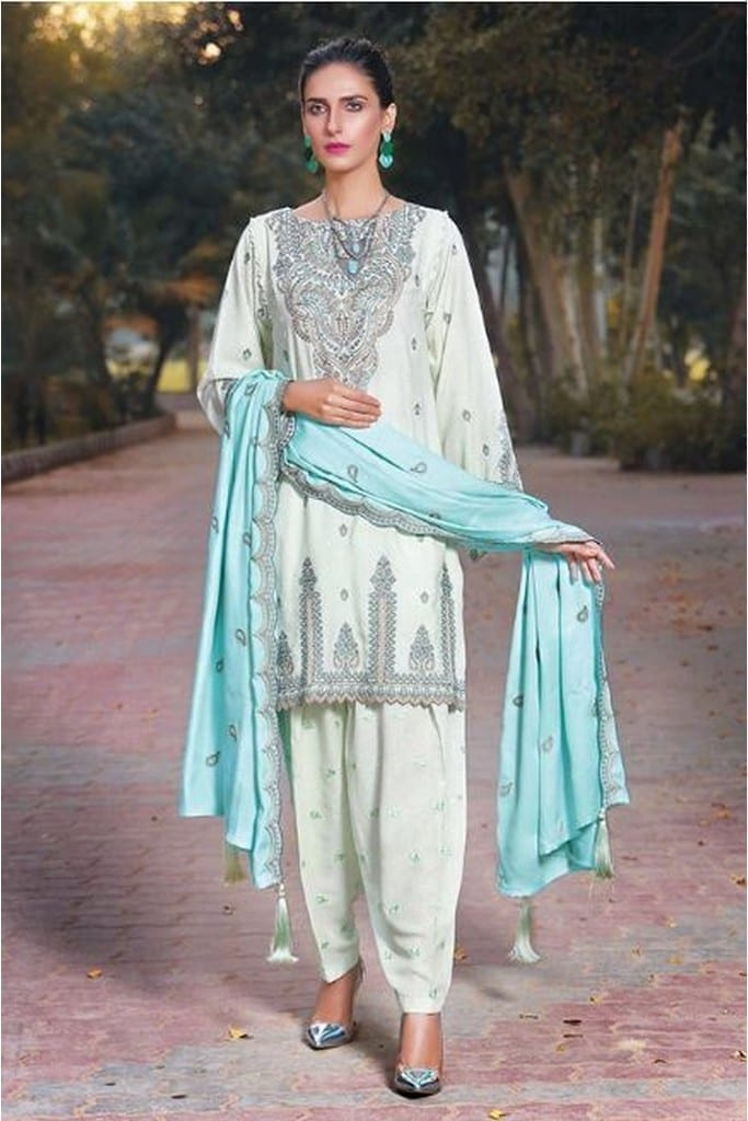 MOTIFZ | EMBROIDERED KRANDI | 2409-FOLK-JADE