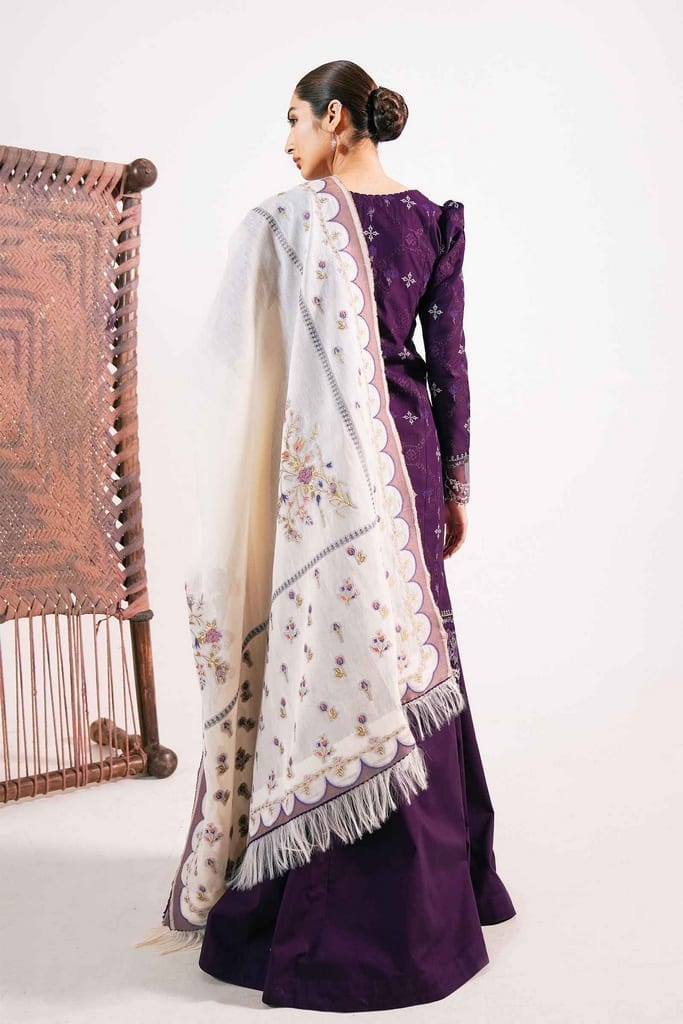 ZARA SHAJAHAN | Embroidered Lawn Suits | ZS21L 06 Fajal-B