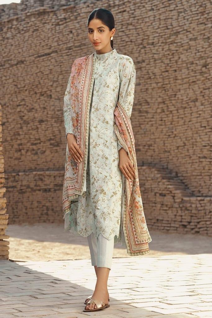 TENA DURRANI | Embroidered Lawn Suits | Gardenia