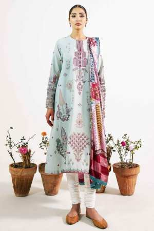 ZARA SHAJAHAN | Embroidered Lawn Suits | ZS21L 24 Khushala-B