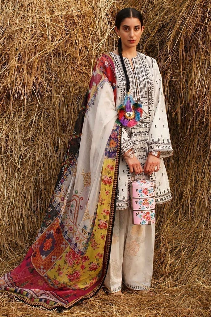 ZARA SHAJAHAN | Embroidered Lawn Suits | ZS21L 27 Shireen-A