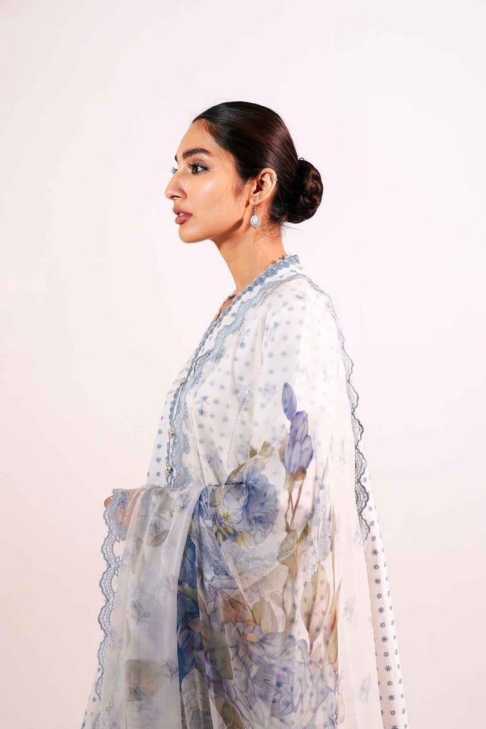 ZARA SHAJAHAN | Embroidered Lawn Suits | ZS21L 13 Zubaida-A